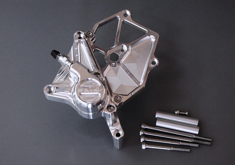 ZZR1400 用 油圧クラッチシリンダー【クラッチホース要交換・・・STD+50mm】 (シルバーアルマイト・ブラックアルマイト)
