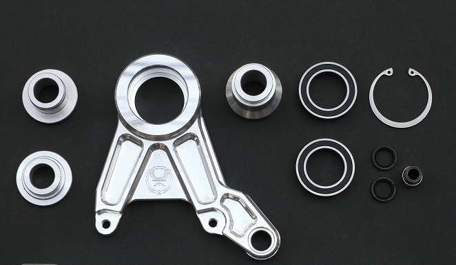 ZRX1100  フローティングキャリパーサポート STDスイングアーム用 (バフ、シルバーアルマイト、ブラックアルマイト)