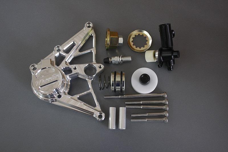 ZRX1100・1200専用ケーブル式スピードメーター対応 油圧クラッチシリンダー (シルバーアルマイト)