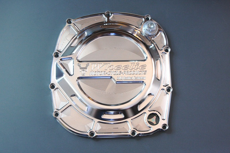 XJR1200/1300 ビレットクラッチカバー (バフ)