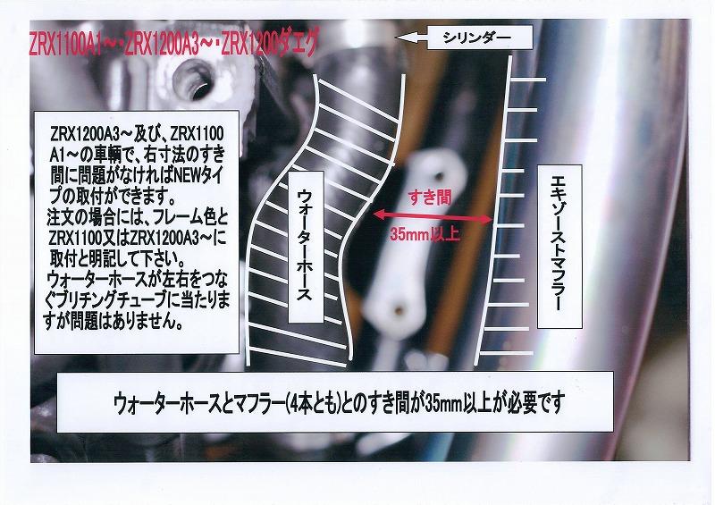 NEWフレーム補強キットご購入時の注意と種類について (ZRX1100 A1~・ZRX1200 A3~・ZRX1200ダエグ)
