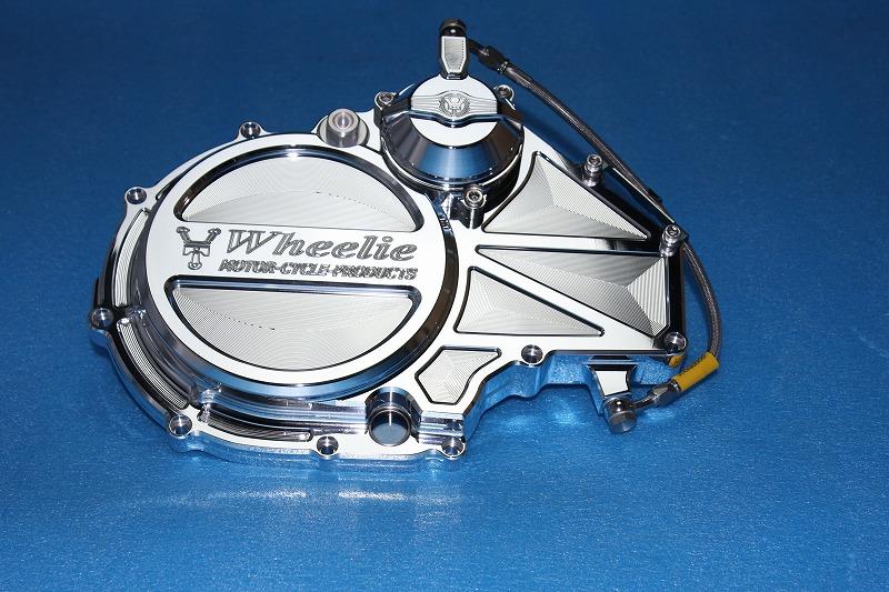 カワサキ水冷系クラッチカバー タイプS-Ⅱ (バフ)