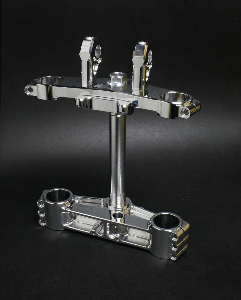 ZⅠ、ZⅡ、 MKⅡ用17インチ・18インチ Φ43オーリンズ正立フォーク用トリプルツリー(タイプR) (オフセット30mm・35mm・37mm) (バフ、シルバーアルマイト、ブラックアルマイトは別途料金)