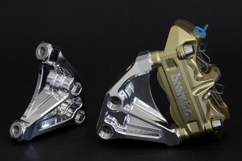 ZRX1200DAEGオーリンズ正立ラジアルマウントキャリパーサポート (Ф310・100mmピッチ)(Ф320・100mmピッチ)  (シルバーアルマイト)