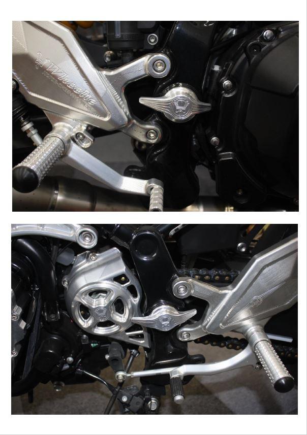 Z900RS/CAFE用 3Dフレームピボットカバー (バフ、シルバーアルマイト、ブラックアルマイト)